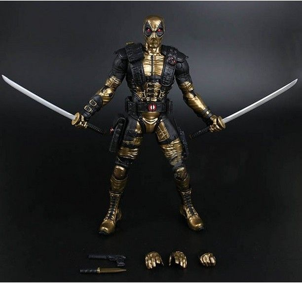 Deadpool Action Figure Golden Alternative Suit X Force Titan Hero Deluxe Edition 10 Inch $42.58 and FREE Shipping Worldwide!  Tag a friend who would love this!  Active link in BIO  #xmen #ironman #marvelcosplay #marvelactionfigures #avengers #marveltoys
