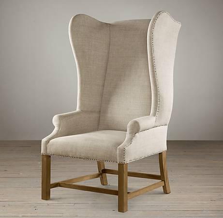 Seattle: Restoration Hardware Wing Back Chair $450   Http://furnishlyst.com