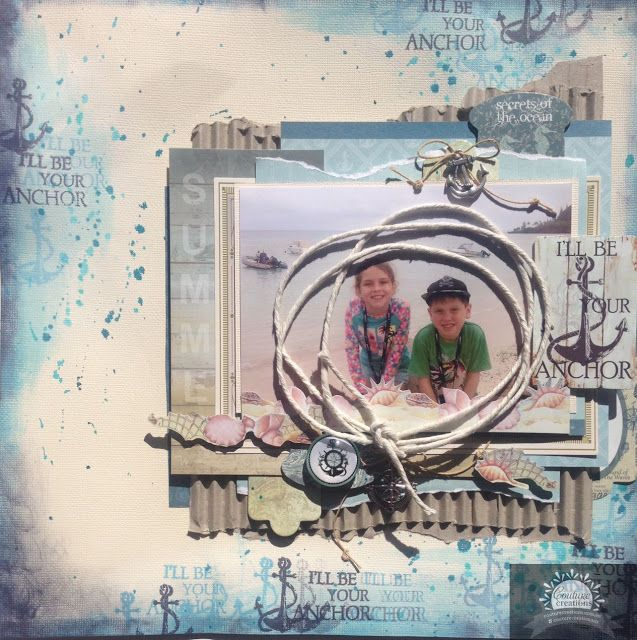 Artdeco Creations Brands: I'll Be Your Anchor Layout by Alison Bevis #seabreeze #couturecreationsaus