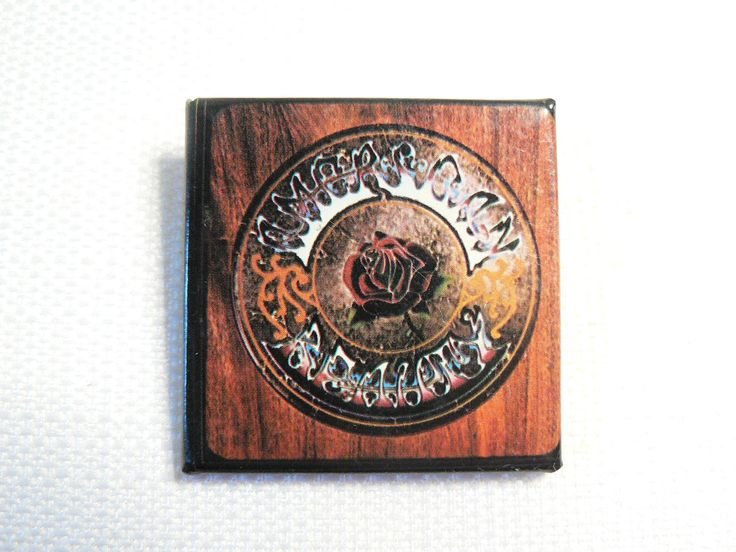 Vintage 1970s Grateful Dead - American Beauty Album (1970) Promotional Pin / Button / Badge by beatbopboom on Etsy