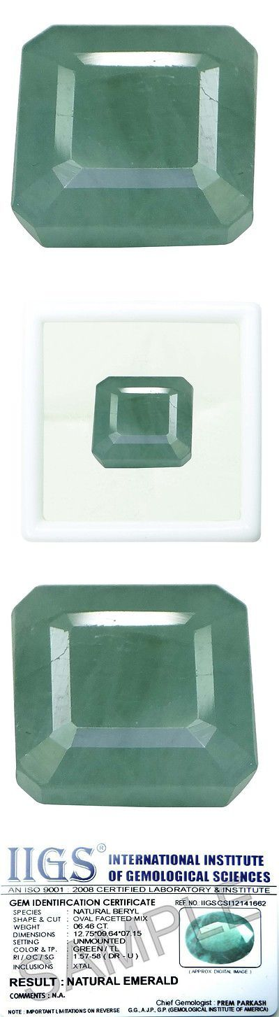 Other Emeralds 164398: 8.47 Ct./9.41 Ratti Pure Iigs Certified Emerald Panna Stone Agj1423 BUY IT NOW ONLY: $142.42