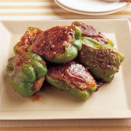 ピーマンの肉詰めみそ焼き | 石原洋子さんの炒めものの料理レシピ | プロの簡単料理レシピはレタスクラブニュース