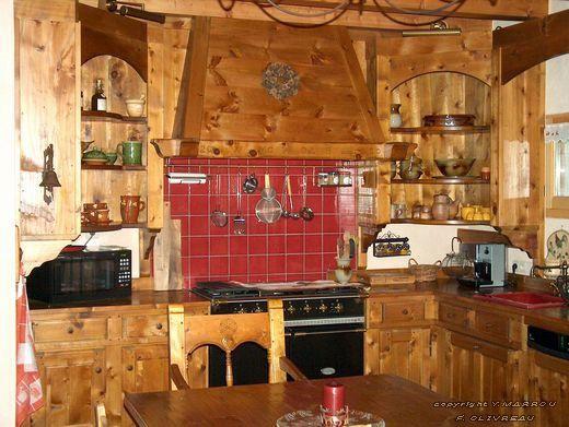 Cuisine Bois Style Montagne | meilleurs decorateurs | Kitchen ...