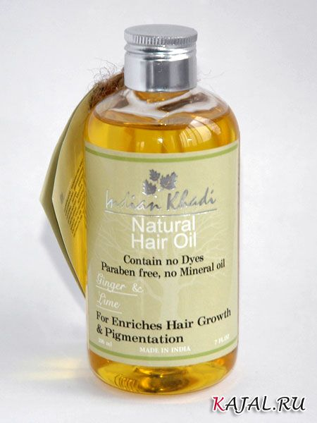 """Оживляющее масло для роста волос с имбирем и лаймом """"Indian Khadi"""""""