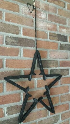 Railroad spike star by Swartz Ironworkz