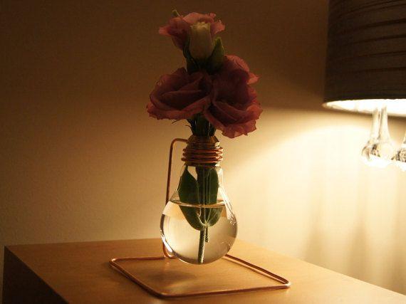 Flower Vase - Bulb Vase - Vase - Bulb - Gift - Vintage Vase - Industrial - Vintage