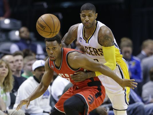 Toronto Raptors vs Indiana Pacers Live Stream NBA Online Playoffs   DeMarre Carroll vs Paul George. Carroll is fighting a limitation minutes but clearly needed to pick up George for Game 2 and the rest of the series so the workload DeRozan is not so heavy on both sides of the court. Carroll's knee will allow duel?  Basketball NBA