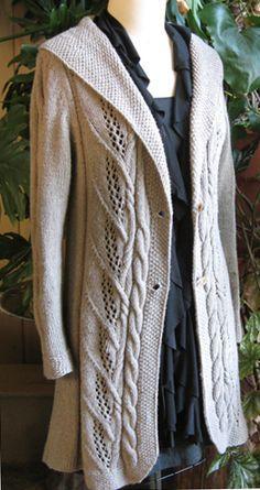 Milkweed...knitted jacket pattern. Isn't this gorgeous?