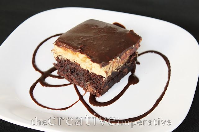 Recipe for Peanut Butter and Chocolate Buckeye Brownies