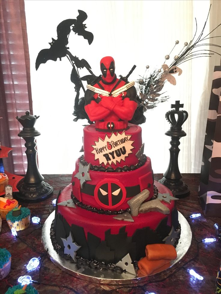 Best 25 Deadpool Cake Ideas On Pinterest