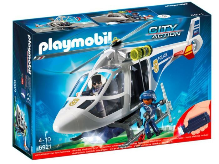 Playmobil City Action - Police Helicopter With LED Searchlight
