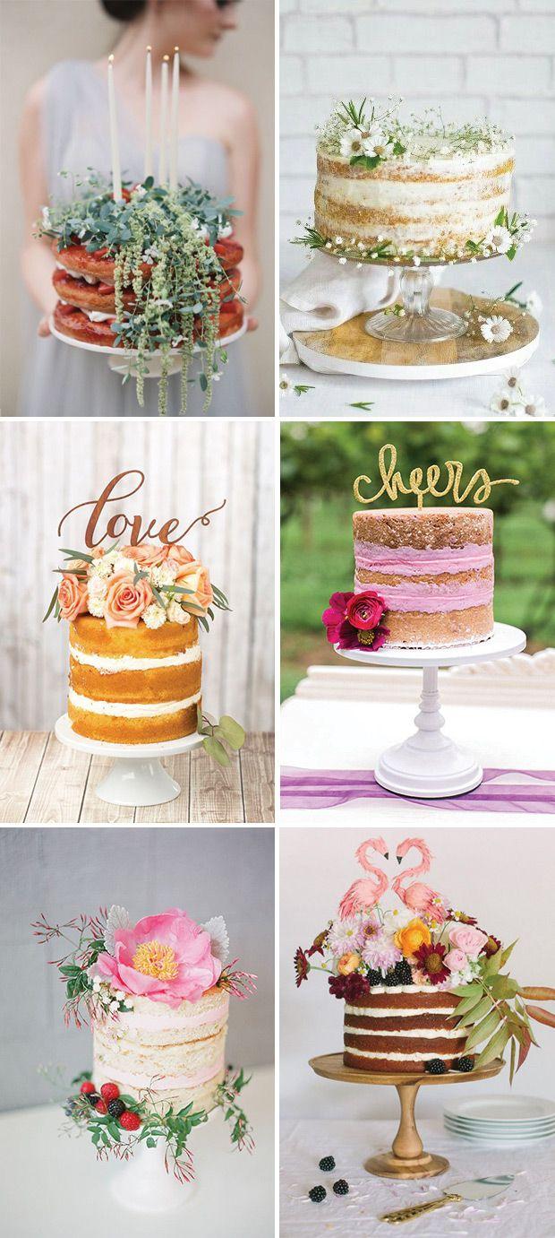 6 Beautiful Single Tier Naked Wedding Cake Ideas // www.onefabday.com