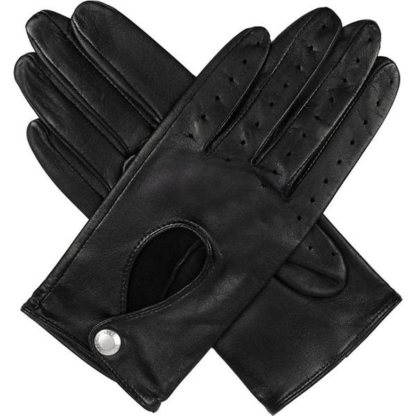 Dents Leather keyhole driving gloves ($59) ❤ liked on Polyvore featuring accessories, gloves, evening gloves, leather gloves, palm gloves, driving gloves and stretch leather gloves