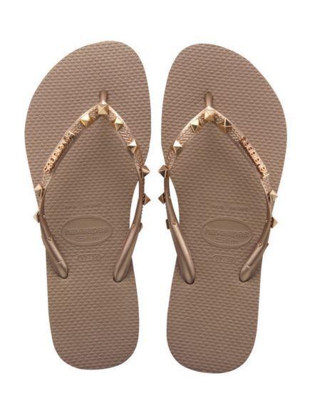 Havaianas - Women's Slim Hardware Flip Flops - Rose Gold