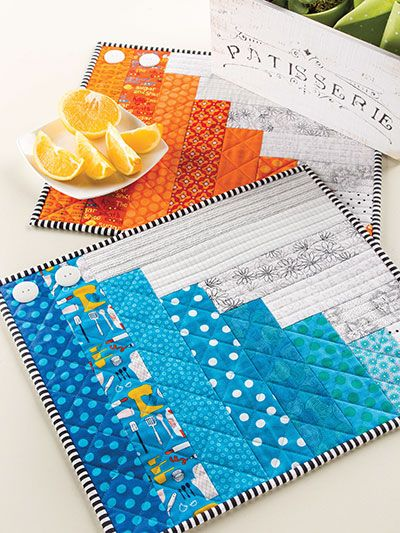 """Quilting - Rainy Day Place Mats - #EQ01014   16"""" x 14"""""""