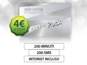 Steel Pack, la nuova offerta mobile tutto compreso di Nòverca!