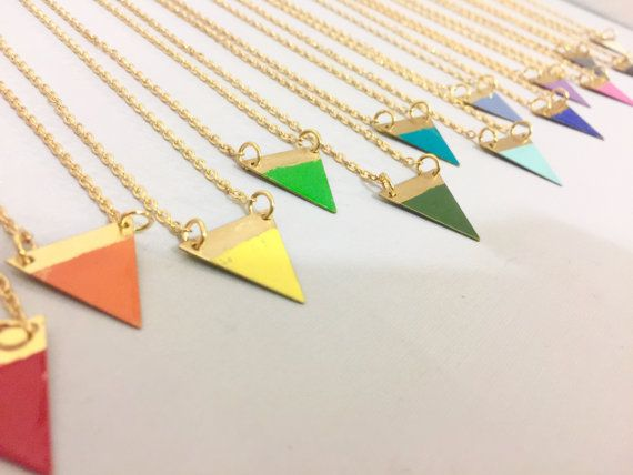 Rainbow coloured Bunting Necklace by TheBeadPotCanterbury