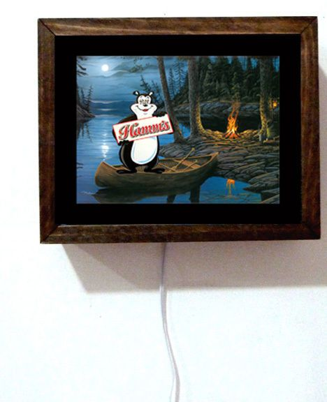Hamm's #hamms beer bear #camping tavern bar canoe green boat #light #lighted sign,  View more on the LINK: 	http://www.zeppy.io/product/gb/2/141980715558/
