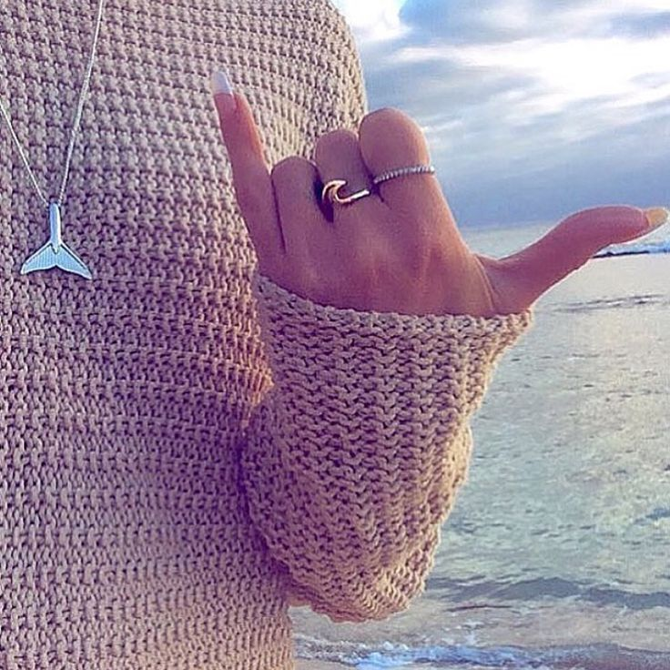 @natalyaemma wearing her @indieandharper Solid 9k Rose Gold Wave Ring and Sterling Silver Whale Tail Necklace || peeps... We are still donating $5 from each sale to @seashpherd || www.indieandharper.com