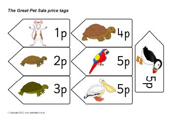 The Great Pet Sale price tags - including versions for US, Australia and New Zealand.