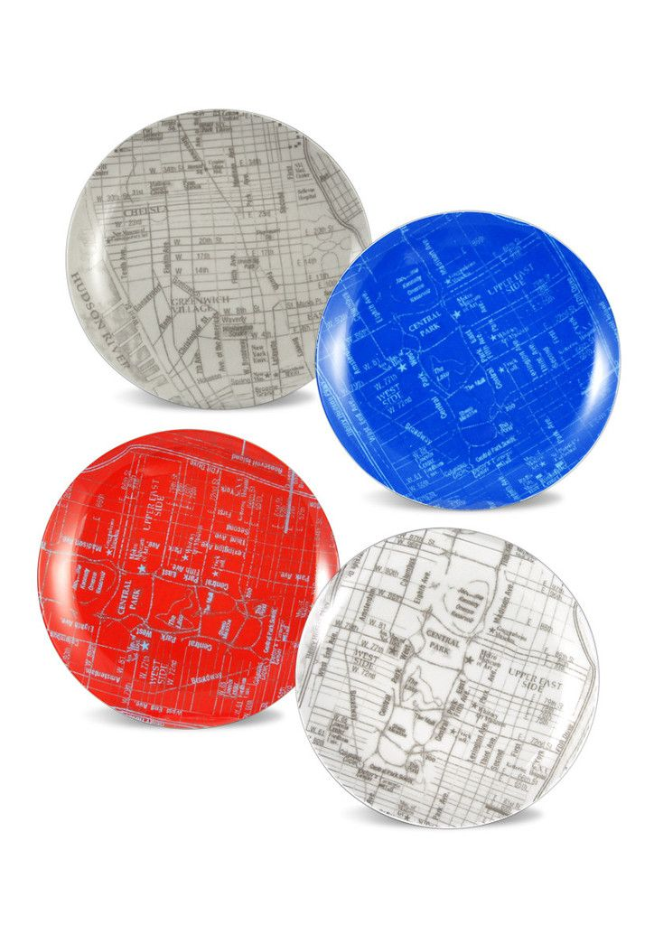 New York Set of Plates