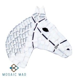 Mosaic Mad DIY Project - HORSE WHITE