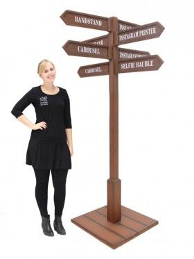 Multi Directional Rustic Sign Post
