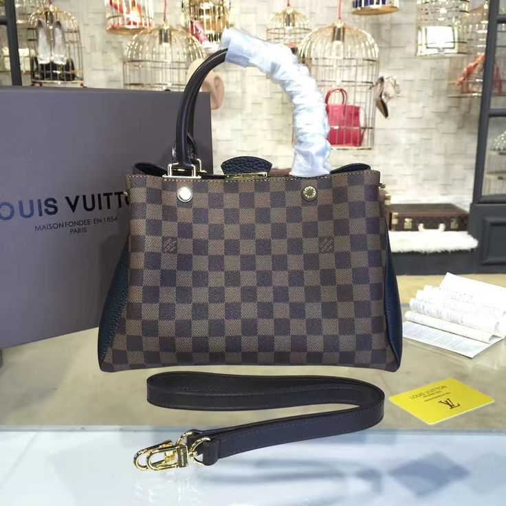 Louis Vuitton Brittany Damier Canvas with Cuir Taurillon Leather  Fall/Winter 2016 Collection N41673,