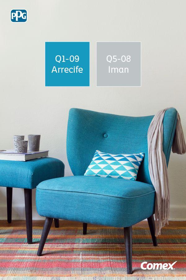 Si el color neutro está en las paredes, atrévete un poco más en la decoración. #ComexTips