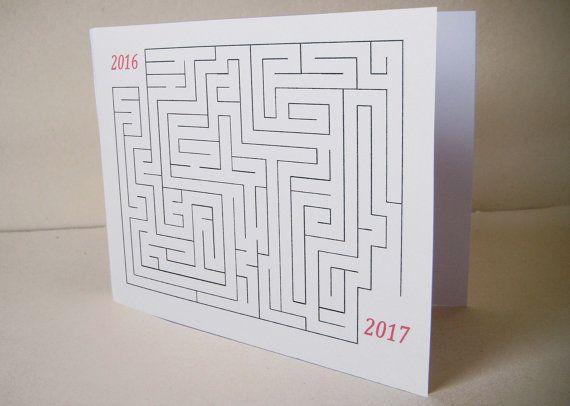 """Carte de voeux nouvel an 2017 """"Le labyrinthe""""                                                                                                                                                                                 Plus"""