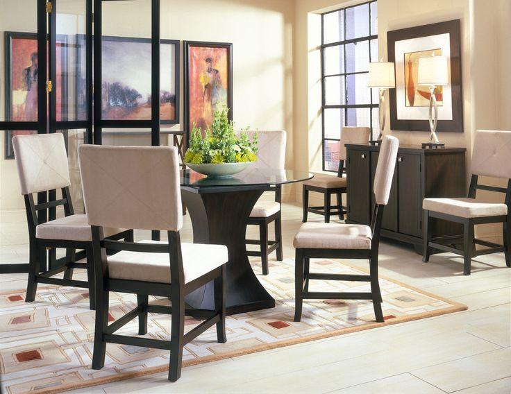 Godiva Round Dining Room & 4 Chairs at Cort Furniture