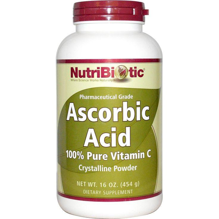 NutriBiotic, Ascorbic Acid, Crystalline Powder, 16 oz (454 g) - iHerb.com