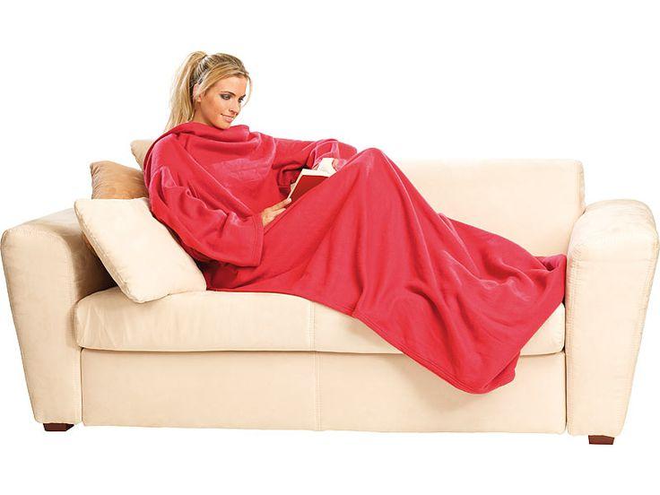 Cette couverture en laine polaire possède deux manches vous permettant de rester bien au chaud sur votre canapé tout en lisant un livre sans problèmes.