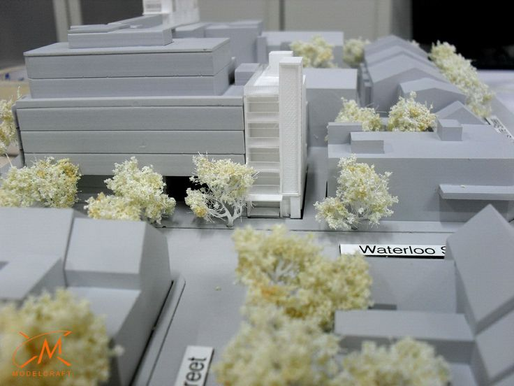 1:500 White on Grey Landscaping. Architectural Model by Modelcraft (NSW) Pty Ltd