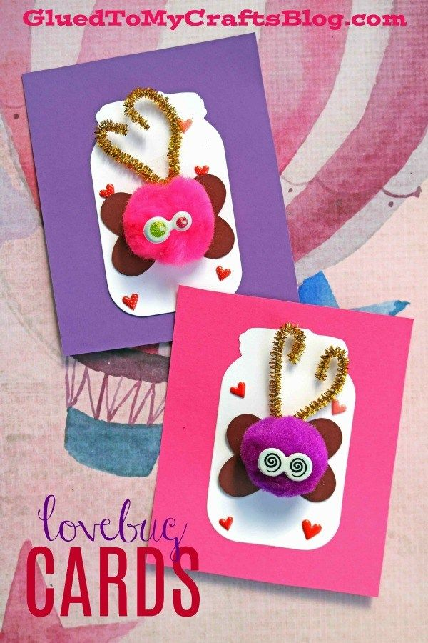 Valentine Themed Love Bug In Jar Paper Cards Family Fun Activities