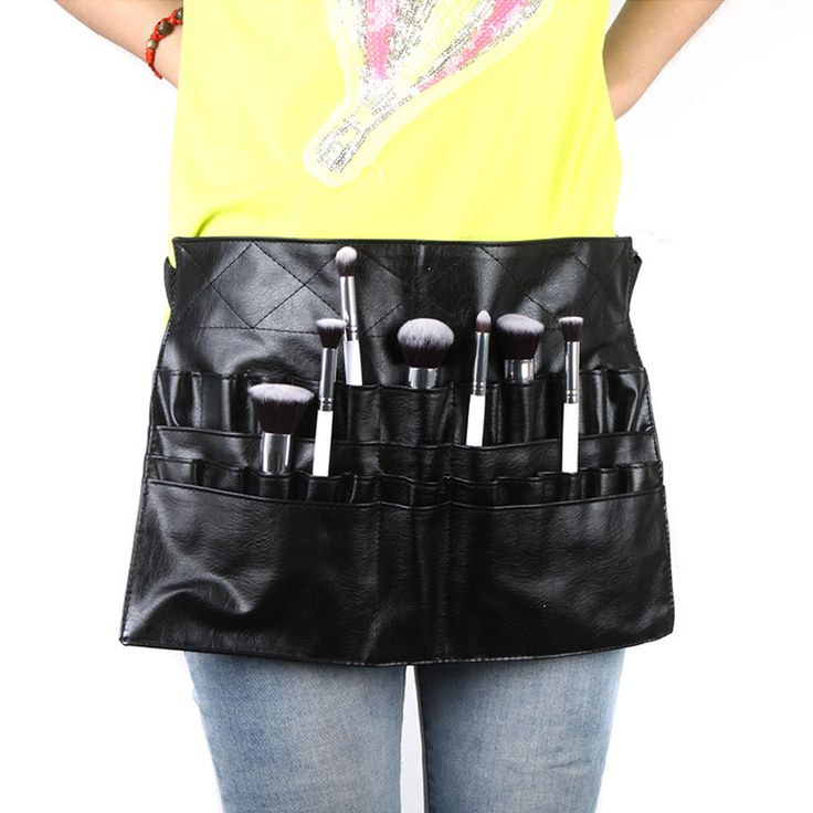 Protable Cosmetic Makeup Brush PVC Apron Bag Artist Belt Strap Professional Make up Bag Holder $11.99
