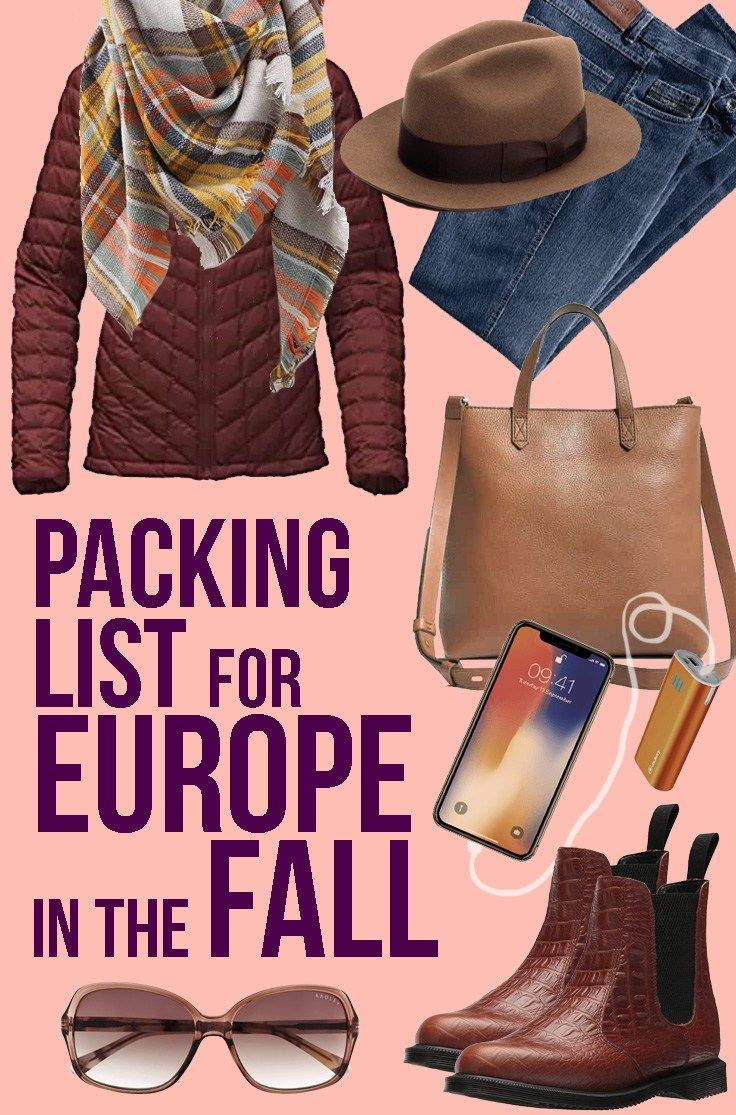 Packing List for Europe in Fall – What to bring to Europe in autumn