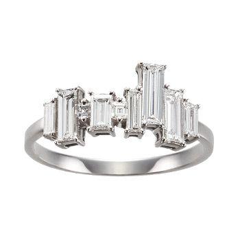 Asymmetry Baguette Ring