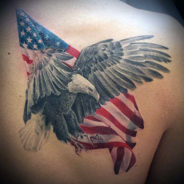 American Flag Bird Tattoos For Guys