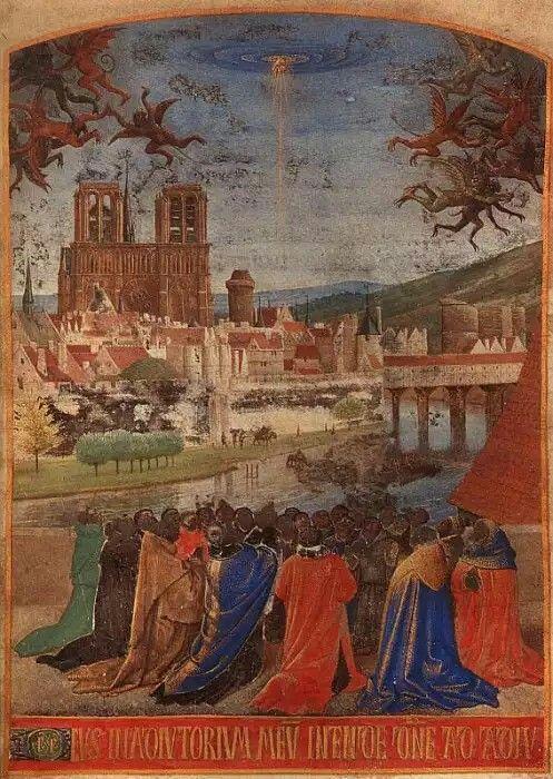 Жан Фуке: Нисхождение Святого Духа на правоверных, 1452