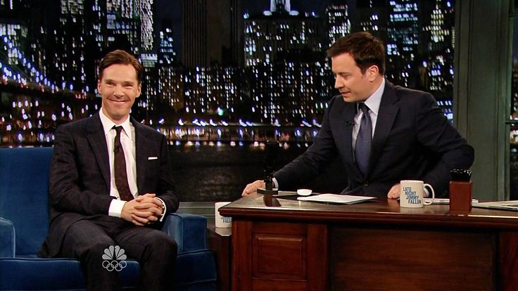 Benedict & Jimmy Fallon have an Alan Rickman-off.