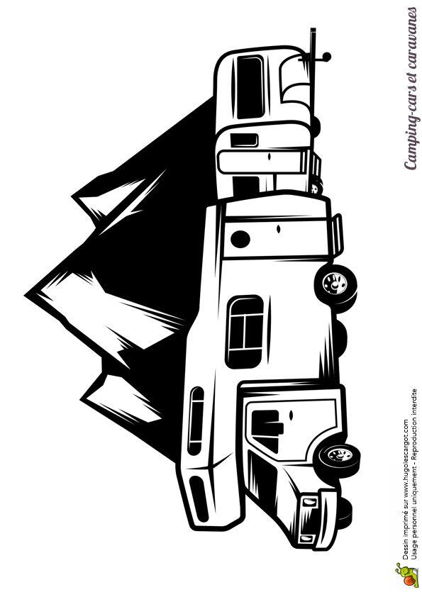 Les 86 meilleures images du tableau coloriages de camions sur pinterest camions chantier et - Dessin a colorier camping car gratuit ...