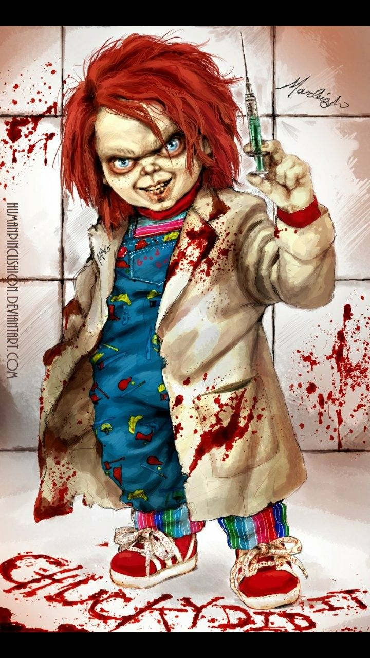 cult of chucky art scare me if you can pinterest chucky horror and movie. Black Bedroom Furniture Sets. Home Design Ideas