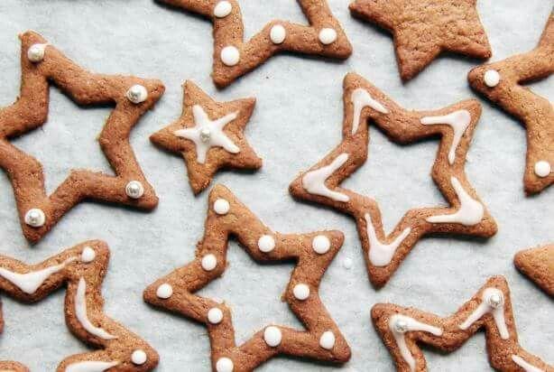 Ster koekjes.  Leuk idee