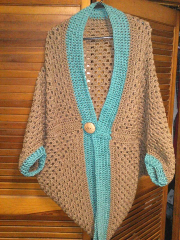Crochet Granny Square Cocoon Shrug by Amanda Lariviere ...
