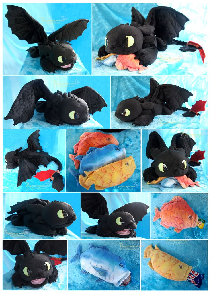 OOAK Toothless - Handmade plushie by Piquipauparro.deviantart.com on @DeviantArt  He is so cute!!!
