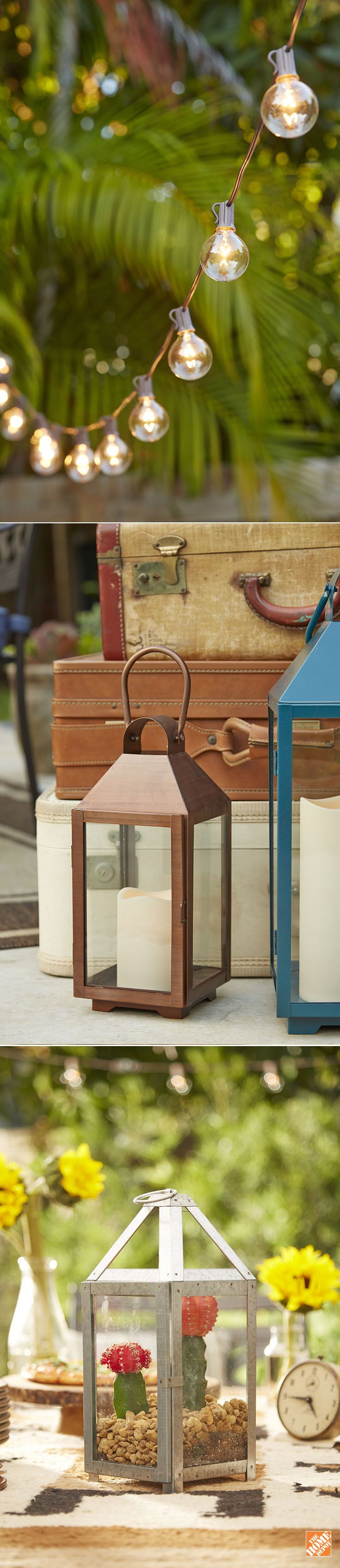 Add magic and beauty to your outdoor living space with festive patio lights! From classic string lights to modern lanterns, you'll find simple, affordable accessories to reflect your style and personality. Click through to browse all our decorative outdoor lights and lanterns.