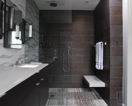 64 best images about contemporary and modern bathrooms on for Bathroom designs 12x12