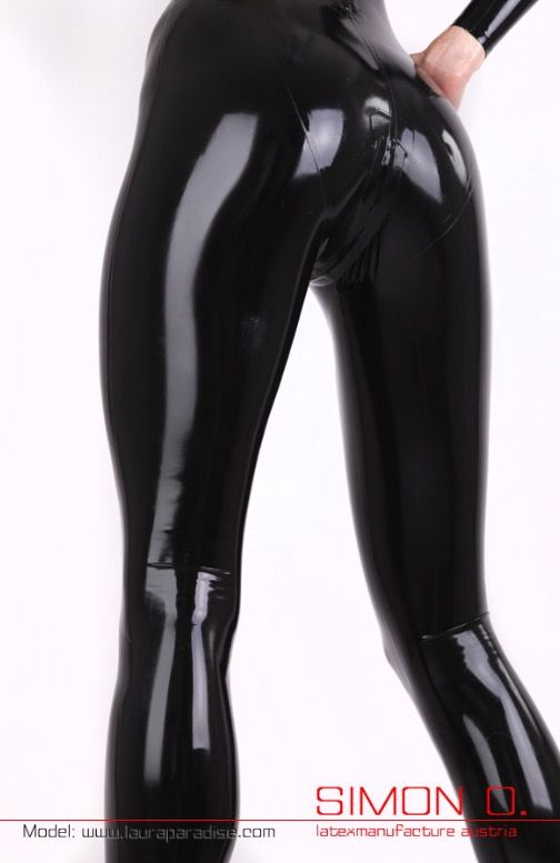 puffs in nrw latex catsuit tease