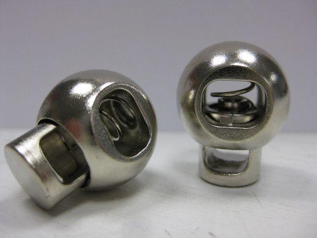 Kordelstopper aus Kunststoff für Kordeln bis ca 5mm Dicke  2 Stück, silber  ideal für Rucksäcke, Hoodies, Taschen,...  Größe: Durchmesser ca. 15mm